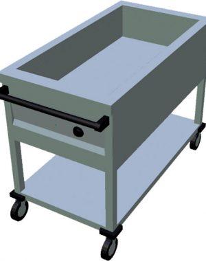 Ohrevný vozík na GN T-AVV-1Z 3GN - 1