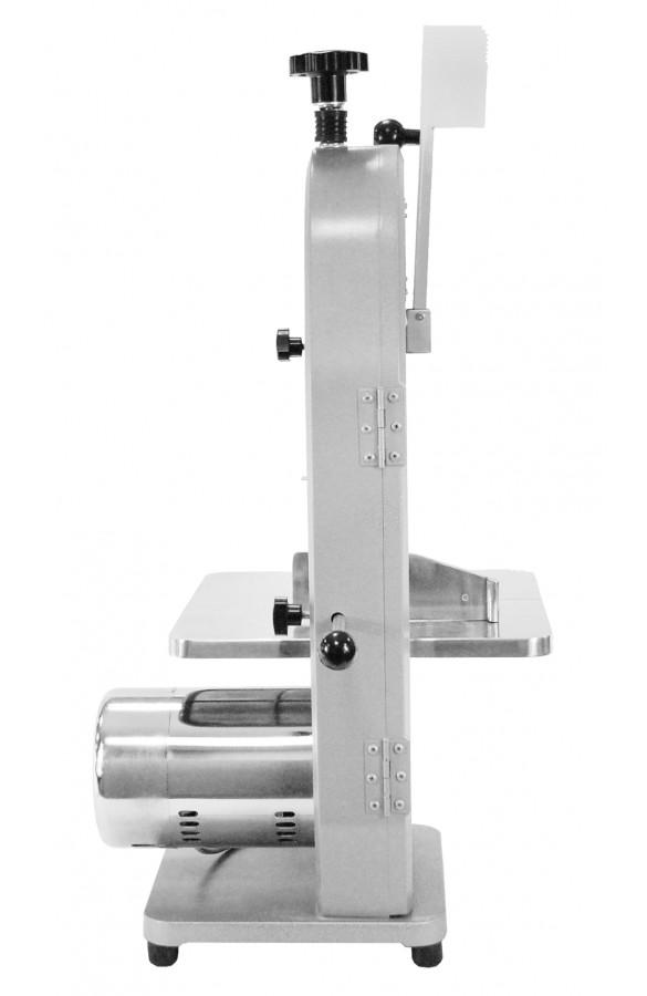 Pílka na kosti | 180mm, gastronomická pásová píla, s výkonom 0.85 kW, rýchlosťou rezu 15-19 m/s a nastavením šírky rezu od 4 do 180mm.
