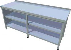Pracovný stôl krytovaný dlhý T-ASJV-7 - 1