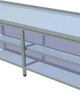 Pracovný stôl s dvomi policami dlhý T-ASJV-9 - 1