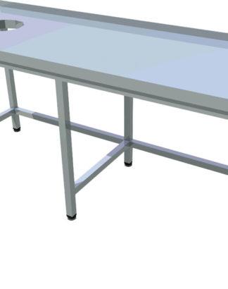 Pracovný stôl s otvorom dlhý T-ASJV-8 - 1