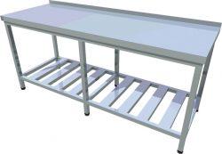 Pracovný stôl s roštovou policou dlhý T-ASJV-4 - 1