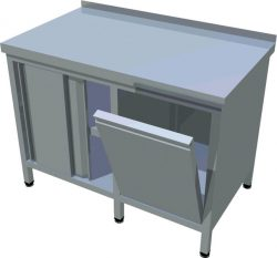 Pracovný stôl s výklopným košom T-AZS-8 - 1