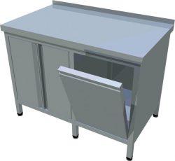 Pracovný stôl uzatvorený T-ASD-3 - 1Pracovný stôl uzatvorený T-ASD-3 - 1