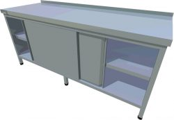 Pracovný stôl uzatvorený dlhý T-ASDV-1 - 1