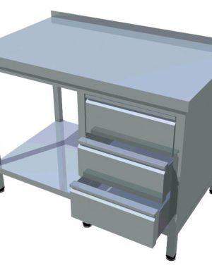 Pracovný stôl zo zásuvkami T-AZS-1 - 1