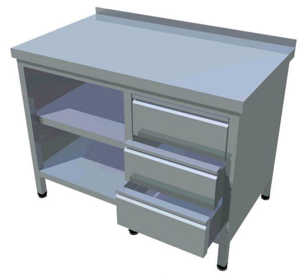 Pracovný stôl zo zásuvkami T-AZS-3 - 1