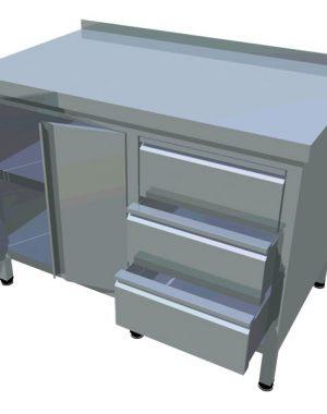 Pracovný stôl zo zásuvkami T-AZS-7 - 1
