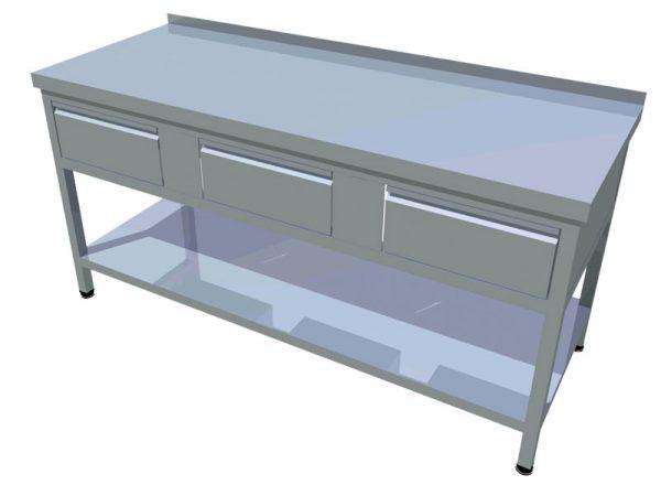 Pracovný stôl zo zásuvkami T-AZSP-3 - 1