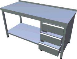 Pracovný stôl zo zásuvkami dlhý T-AZSV-1 - 1