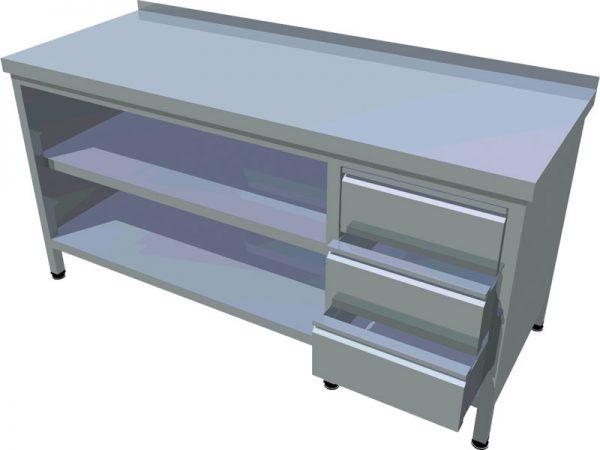 Pracovný stôl zo zásuvkami dlhý T-AZSV-3 - 1