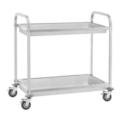 Servírovací vozík - 2 hlboké police - do 100 kg - 2 brzdy - 1