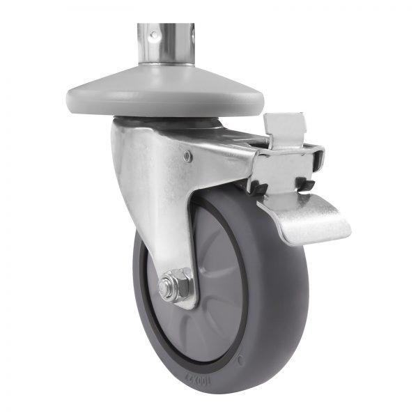 Servírovací vozík z ušľachtilej ocele - 3 police - do 150 kg - 2 brzdy - 5