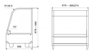 Teplá vitrína pultová RTR 120 - 1