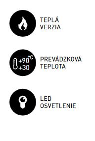 Teplá vitrína pultová RTR 160-