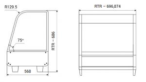 Teplá vitrína pultová RTR 160 - 1