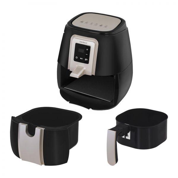 Teplovzdušná fritéza - 60-minútový časovač - dotykový displej - 5