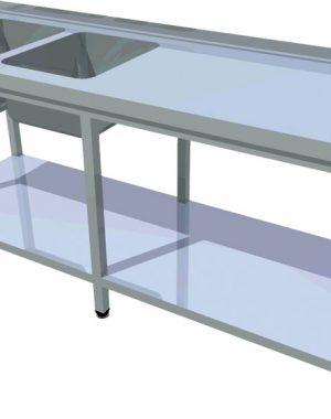 Umývací stôl s policou dlhý T-AUSPV-2 - 1