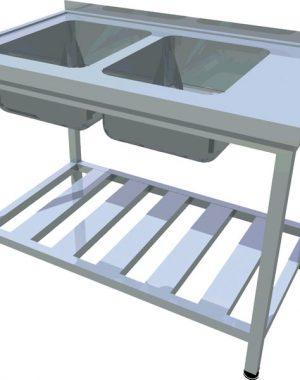 Umývací stôl s roštovou policou T-AUSR-2 - 1