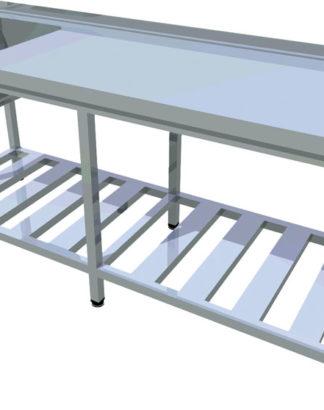 Umývací stôl s roštovou policou dlhý T-AUSRV-1 - 1