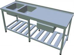 Umývací stôl so zásuvkou dlhý T-AUSRV-2Z - 1