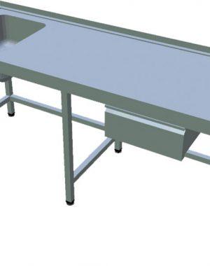 Umývací stôl so zásuvkou dlhý T-AUSV-1Z - 1