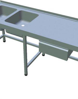 Umývací stôl so zásuvkou dlhý T-AUSV-2Z - 1