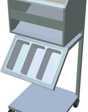 Vozík na podnosy, príbory a pečivo T-VNP-1 P - 1Vozík na podnosy, príbory a pečivo T-VNP-1 P - 1