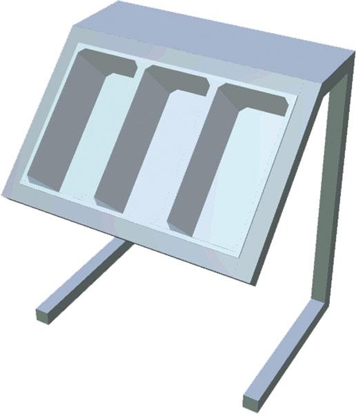 Zásobník na príbory na konzolách T-APS-1S - 1