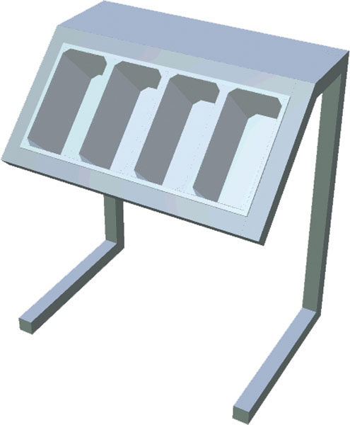 Zásobník na príbory na konzolách T-APS-2S - 1