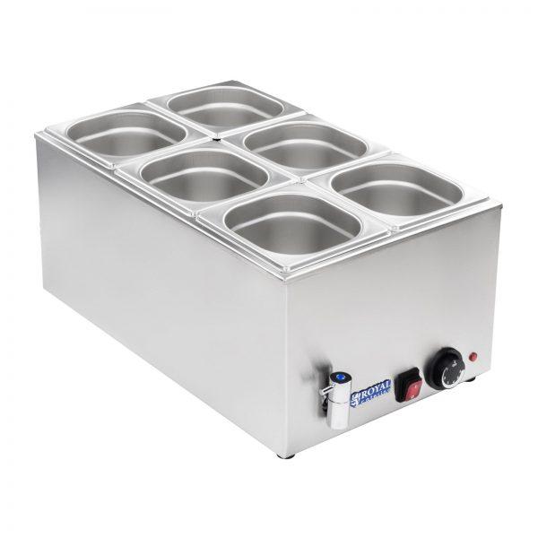Bain Marie - gastronádoba - 16 - vypúšťací kohútik - 2