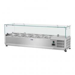 Chladiaca nadstavba- 150 x 39 cm - 6 GN nádob 13 - sklenený zákryt - 1