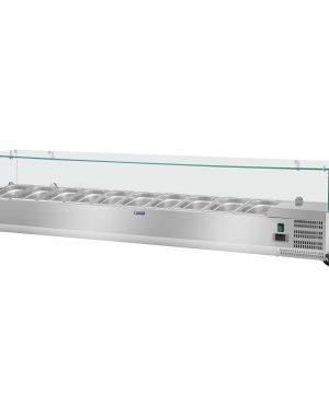 Chladiaca nadstavba - 200 x 33 cm - 10 GN nádob 14 - sklenený zákryt - 1