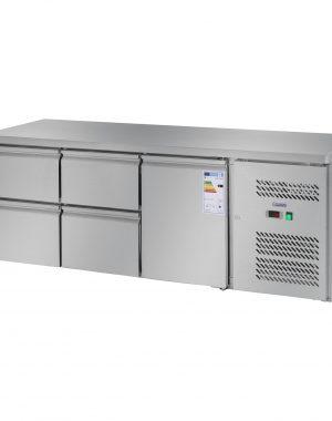 Chladiaci stôl - 403 l - 1 dvere - 4 zásuvky - 1