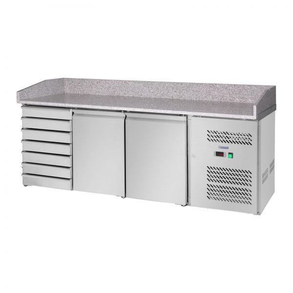Chladiaci stôl - 580 l - žulová pracovná doska - 2 dvere - 1