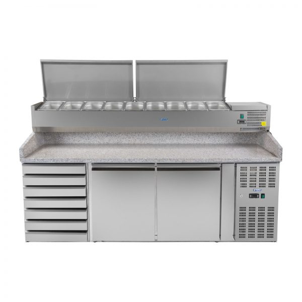 Chladiaci stôl na pizzu - 202 x 80 cm - 2