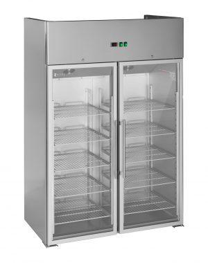 Gastro chladnička s dvomi presklenými dverami - 984 l - 1
