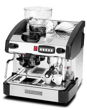 Kávovar jedno pákový s mlynčekom EMC-1P B M - 1