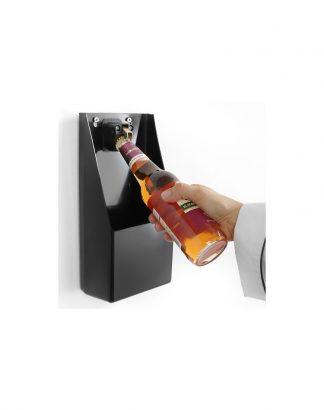 Otvárač na fľaše s nádobou na uzávery 1