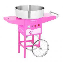 Stroj na cukrovú vatu s vozíkom - 52 cm - 1 200 W - ružový   RCZK-1200-P