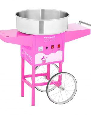Stroj na cukrovú vatu s vozíkom - 52 cm - 1 200 W - ružový | RCZK-1200-P