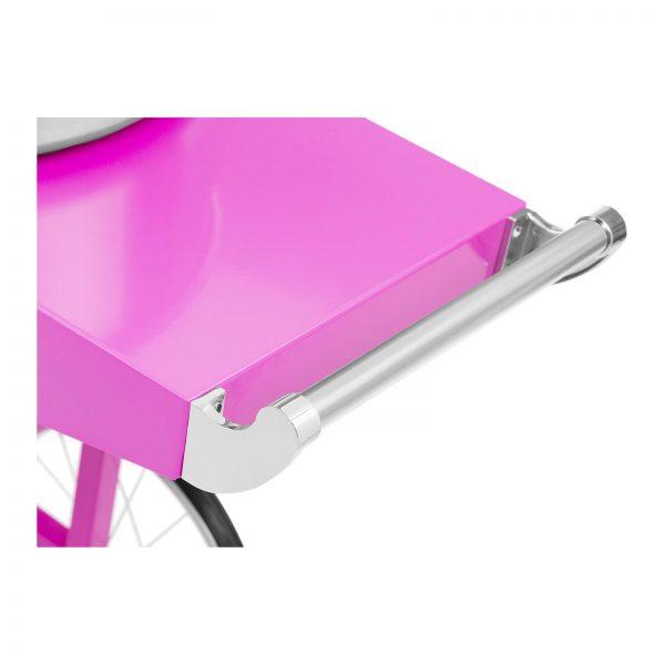 Stroj na cukrovú vatu s vozíkom - 52 cm - 1 200 W - ružový 2