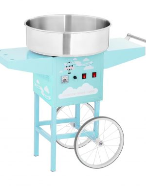 Stroj na cukrovú vatu s vozíkom - 52 cm - 1 200 W - tyrkysový | RCZK-1200-BG