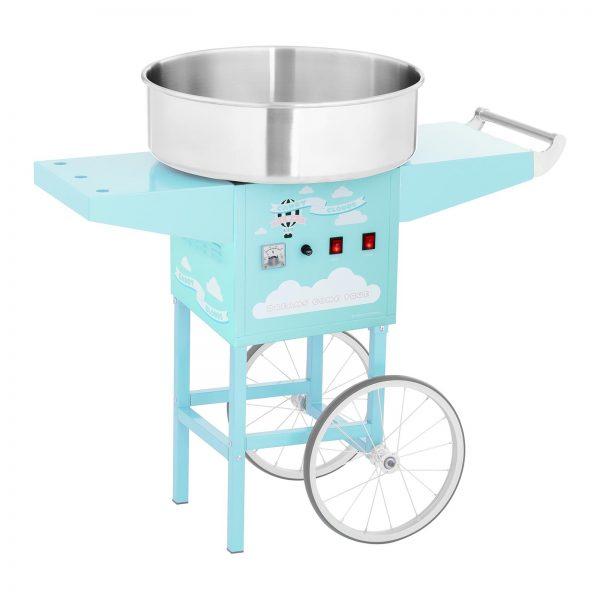 Stroj na cukrovú vatu s vozíkom - 52 cm - 1 200 W - tyrkysový 1