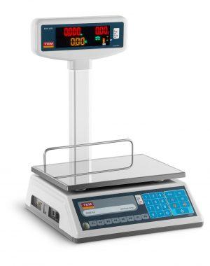 Obchodná váha s obojstranným LED displejom - 6 kg 2 g - 15 kg 5 g