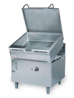 Plynová smažiaca panvica 80l - 900x900mm - 18kw - 900.PTG-05EX