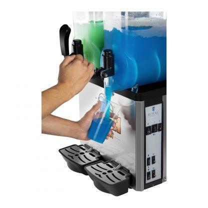 Výrobník ľadovej drte 2 x 12 litrov - LED   model RCSL 2 12 - 4