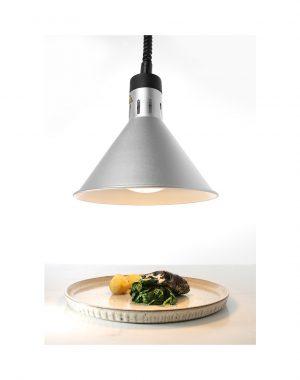 Ohrevná lampa - strieborná HENDI 273869