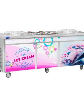 Stroj na thajskú zmrzlinu - rolovana zmrzlina - 2 x 45 cm - 1