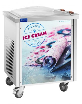 Stroj na thajskú zmrzlinu - rolovana zmrzlina - 50 x 50 cm - 1